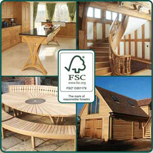 timber merchants products and fsc logo