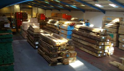 Inside iWood Timber's warehouse