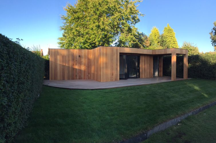 Western Red Cedar Cladding Garden Room 2