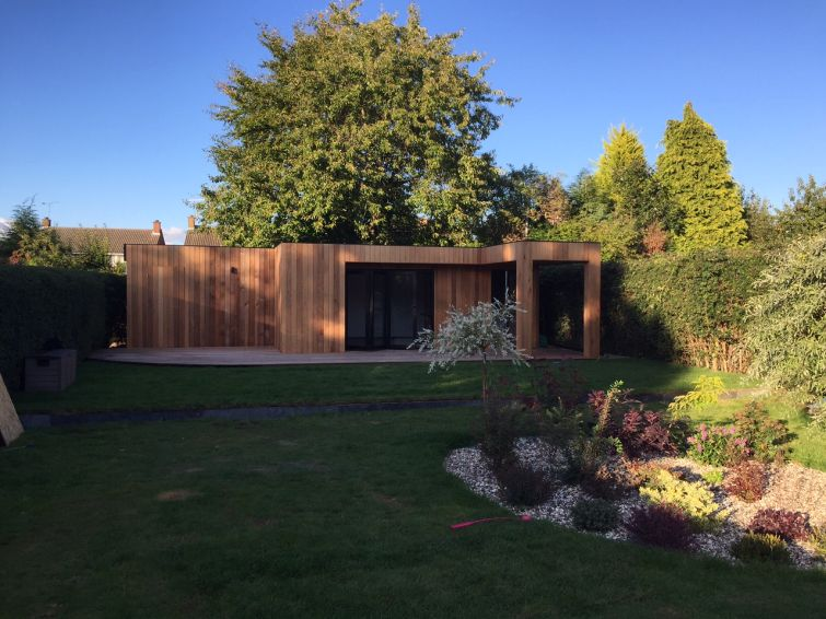 Western Red Cedar Cladding Garden Room 3