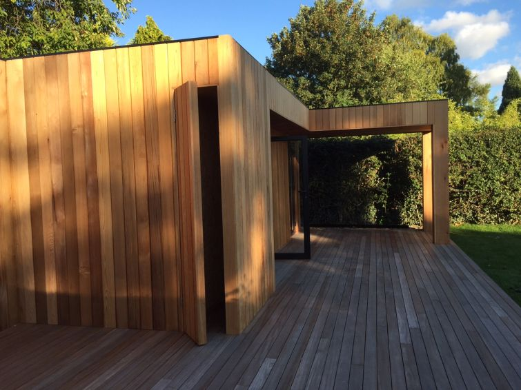 Western Red Cedar Cladding Garden Room 4