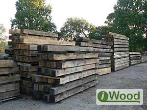 Air Dried & Weathered European Oak Posts