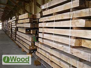 Air Dried European Oak Beams