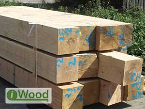 QP1 Grade Fresh Sawn European Oak Beams