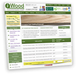 A thumbnail of the iwood website