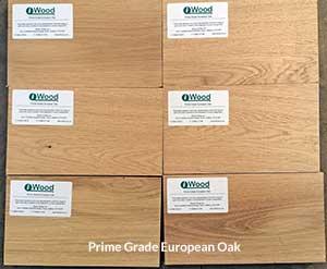 Prime Grade Oak Examples