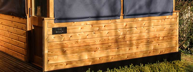 British Larch Shiplap timber cladding