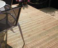 Installed oak decking