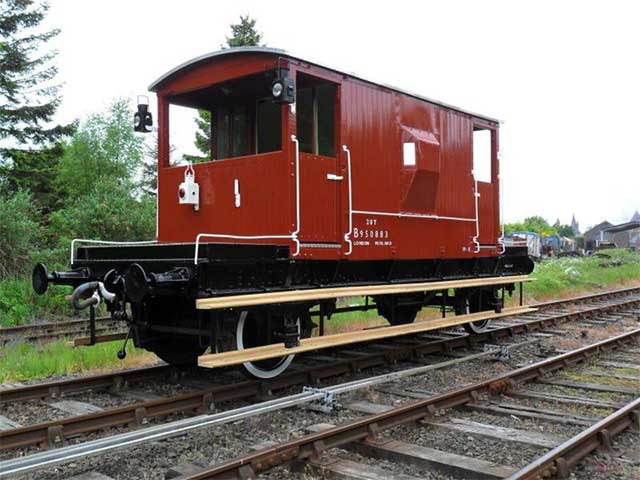 A train carriage refurbished from iWood's oak