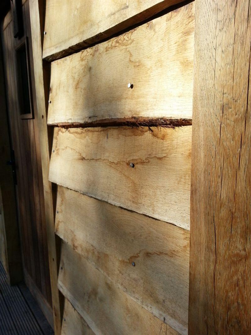 oak waney edge cladding